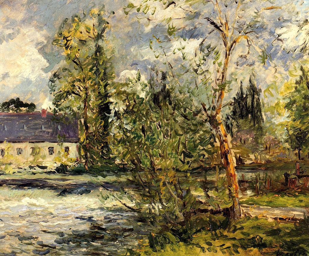The Ponce Paper Factory on the Edge of the Sathe Woods 1918 | Maxime Maufra | Oil Painting