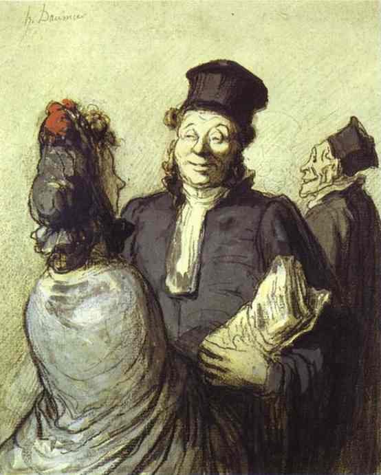 A Lawyer With His Client 1862 | Honore Daumier | Oil Painting