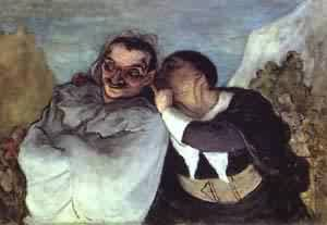 Crispin And Scapin | Honore Daumier | Oil Painting