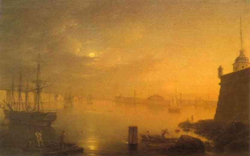 Moonlit Night In St Petersburg 1839 | Maxim Vorobiev | Oil Painting