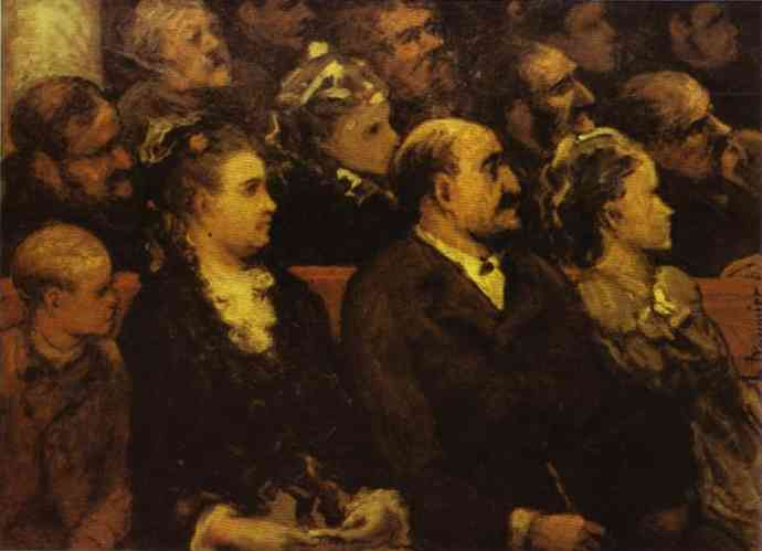 French Theatre 1857-60 | Honore Daumier | Oil Painting