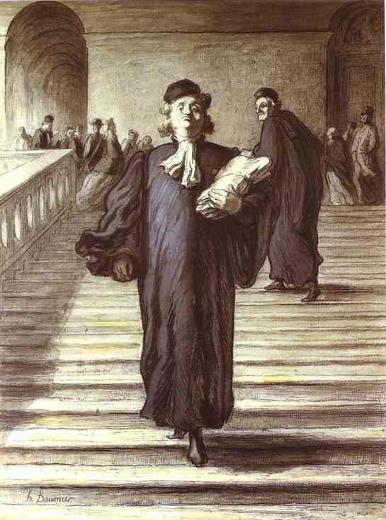 Grand Staircase Of The Palace Of Justice 1865 | Honore Daumier | Oil Painting