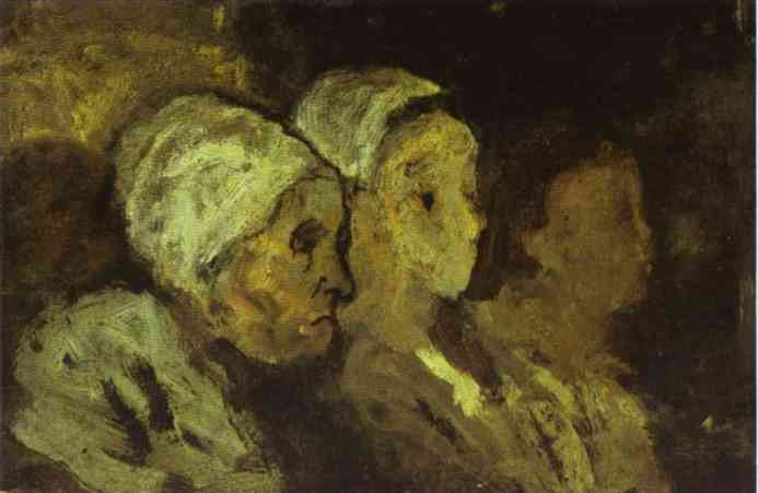 In Church 1860 | Honore Daumier | Oil Painting