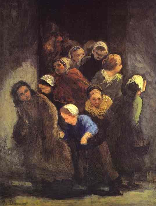Leaving School 1847-48 Also Worked On In 1850 | Honore Daumier | Oil Painting