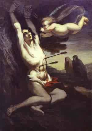 Martyrdom Of St Sebastian 1849-52 | Honore Daumier | Oil Painting