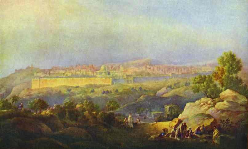 View Of Jerusalem 1836 | Maxim Vorobiev | Oil Painting