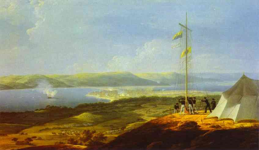 View Of The Military Telegraph Near Varna 1829 | Maxim Vorobiev | Oil Painting