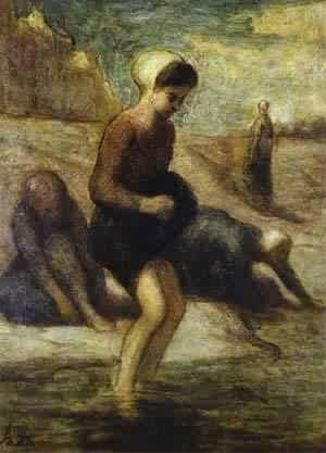 On The Shore 1849-53 | Honore Daumier | Oil Painting