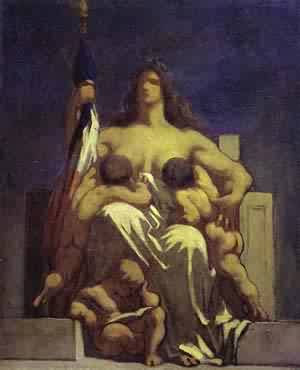 Sketch For La Republique 1848 | Honore Daumier | Oil Painting