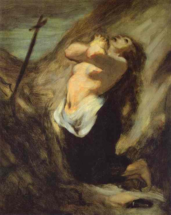 St Magdalene In The Desert 1848-52 | Honore Daumier | Oil Painting