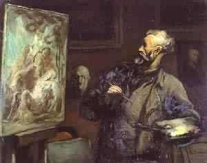 The Artist 1868-70 | Honore Daumier | Oil Painting