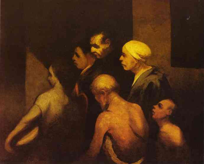 The Beggars 1845 | Honore Daumier | Oil Painting
