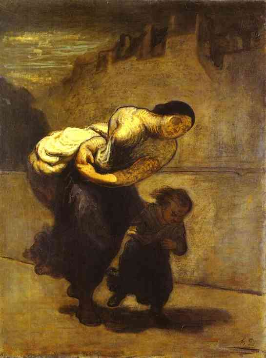 The Burden (The Laundress) 1850-1853 | Honore Daumier | Oil Painting