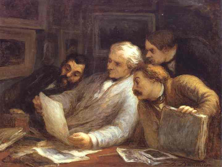 The Etching Amateurs 1860-63 | Honore Daumier | Oil Painting