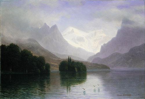 Mountain Scene 1880 | Albert Bierstadt | Oil Painting
