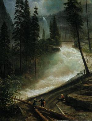 Nevada Falls Yosemite 1872 or 1873   Albert Bierstadt   Oil Painting