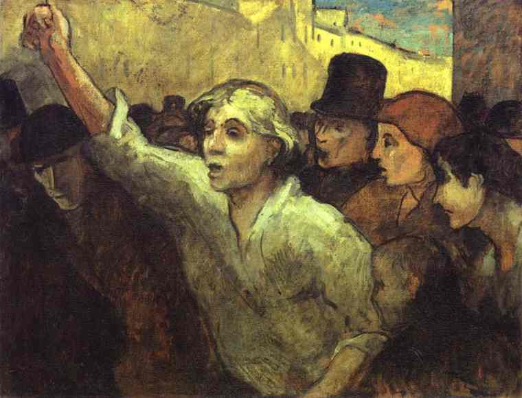 The Insurrection 1852-58 | Honore Daumier | Oil Painting