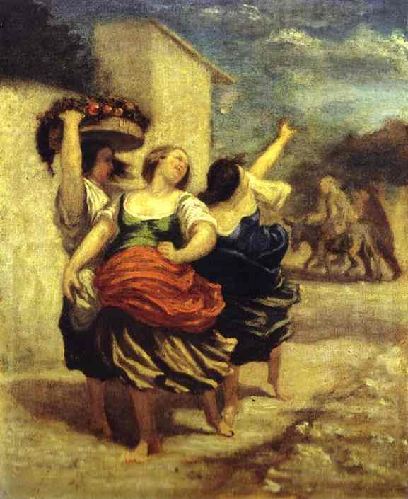 The Miller His Son And The Donkey | Honore Daumier | Oil Painting