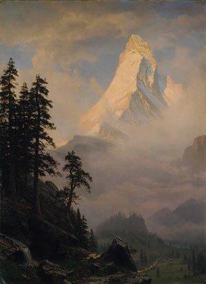 Sunrise on the Matterhorn 1875 | Albert Bierstadt | Oil Painting