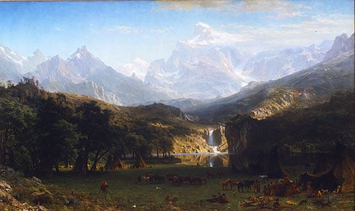 The Rocky Mountains Lander's Peak 1863 | Albert Bierstadt | Oil Painting