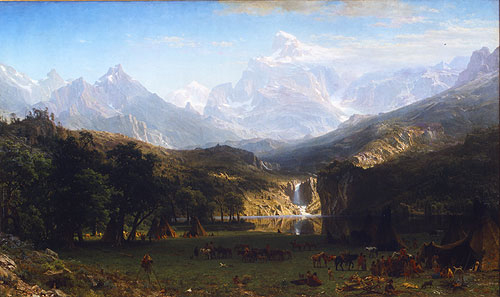 The Rocky Mountains Lander's Peak 1863 | Albert Bierstadt | Oil Painting