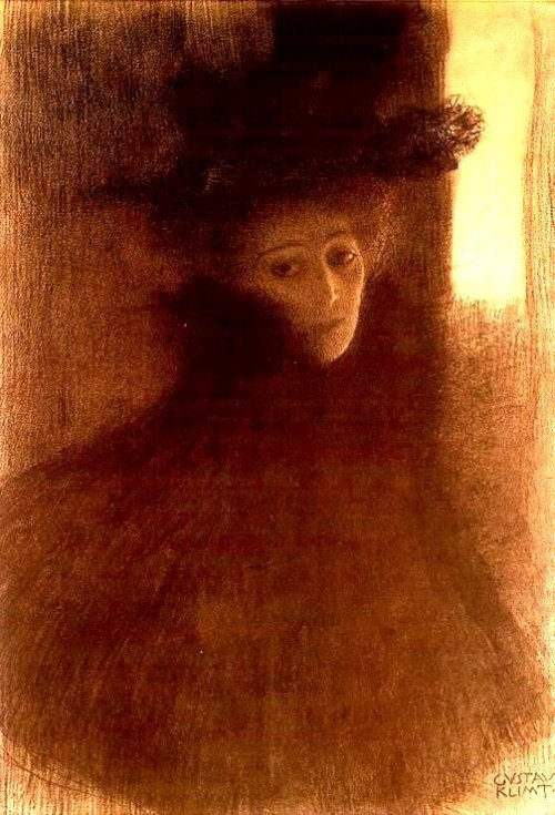 Woman with the Cape and a Hat 1897-08