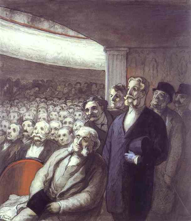 The Spectators 1863-65 | Honore Daumier | Oil Painting