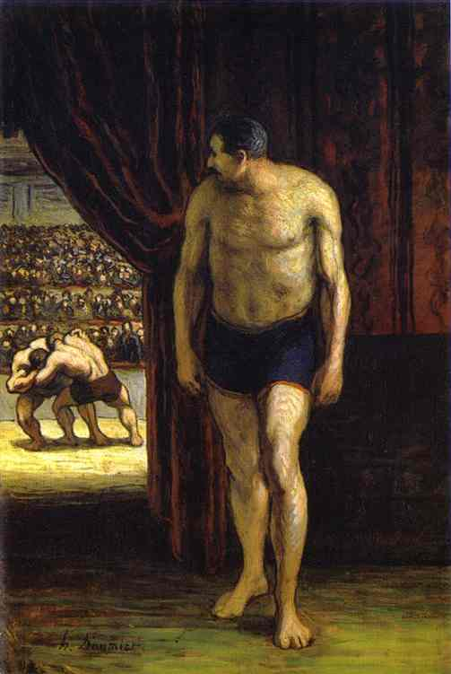 The Wrestler 1852-53 | Honore Daumier | Oil Painting