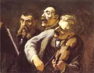 Three Amateur Musicians 1864-65 | Honore Daumier | Oil Painting