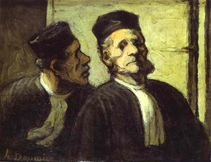 Two Lawyers 1855-57 | Honore Daumier | Oil Painting