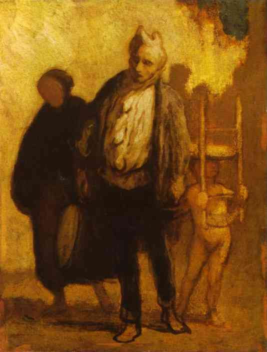 Wandering Saltimbanques 1847-50 | Honore Daumier | Oil Painting