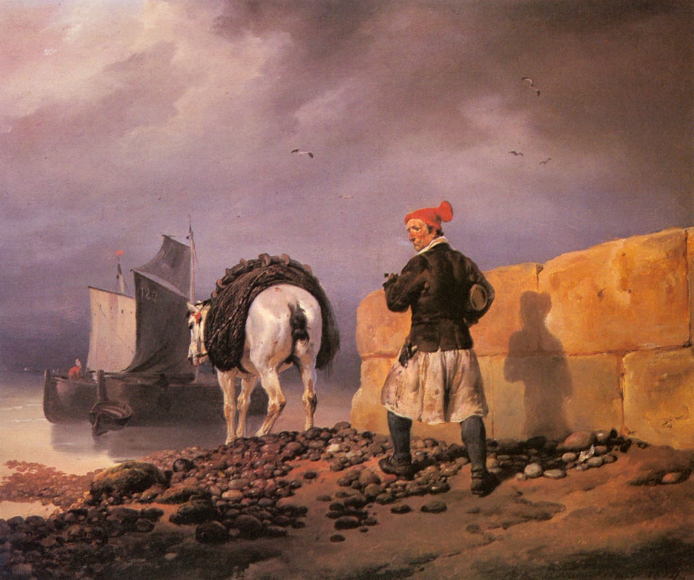A Fisherman Setting Out | Horace Vernet | Oil Painting