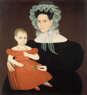 Mrs Mayer and Daughter 1835 | Ammi Phillips | Oil Painting