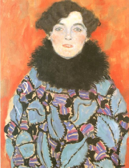 Portrait of Johanna Staude (unfinished) 1917-1918