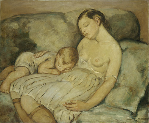 The Green Sofa 1930 | Anne Goldthwaite | Oil Painting