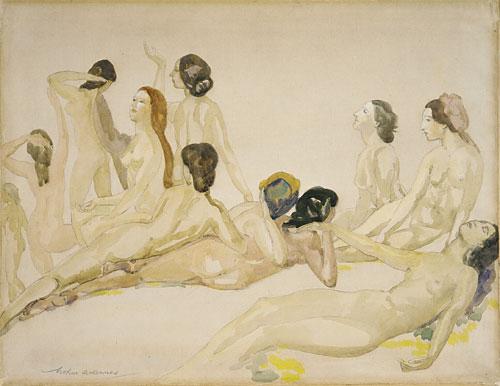 Eleven Nudes ca 1910 | Arthur B Davies | Oil Painting