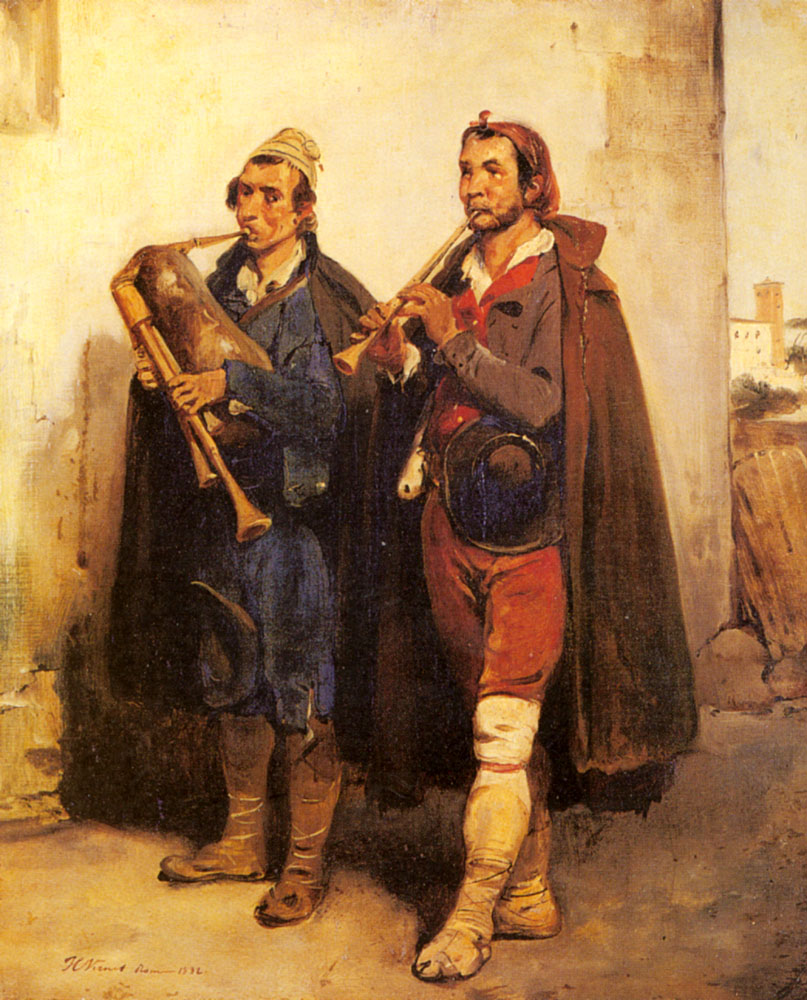 Village Musicians | Horace Vernet | Oil Painting