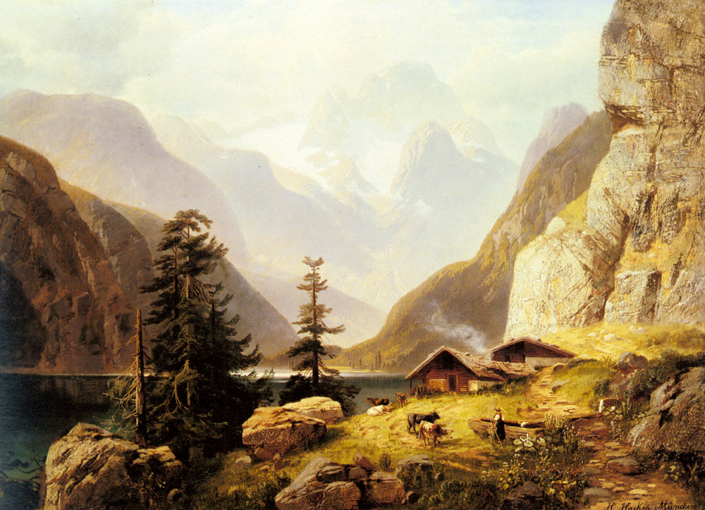 An Alpine Valley | Horst Hacker | Oil Painting
