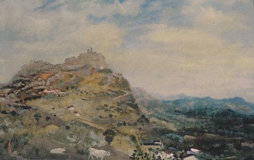 Italian Hill Town ca 1925 | Arthur B Davies | Oil Painting