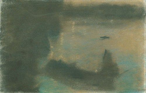 Mysterious Barges II | Arthur B Davies | Oil Painting