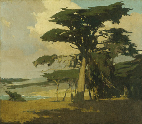 Afternoon among the Cypress ca 1905 | Arthur Frank Mathews | Oil Painting