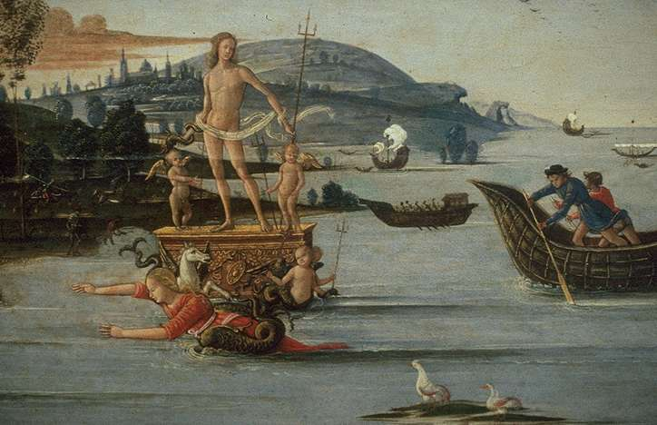 The Beloved of Enalus Sacrificed to Poseidon and Spared 1512 | Bernardino Fungai | Oil Painting