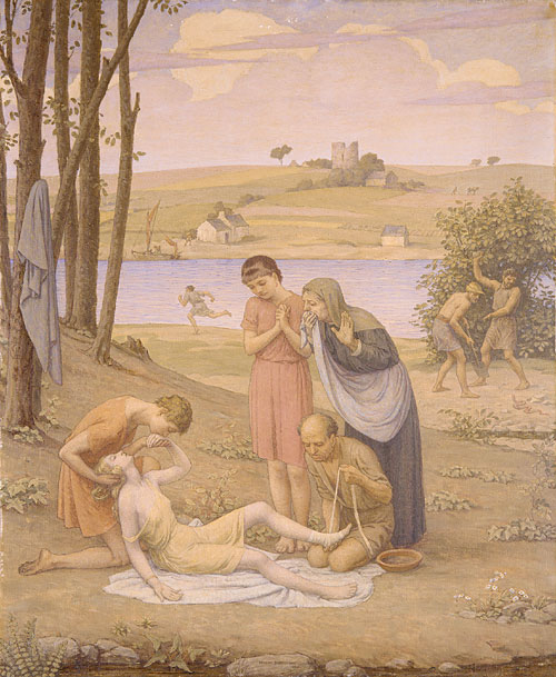 Eurydice Bitten by the Snake 1930   Bryson Burroughs   Oil Painting