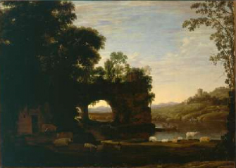 Landscape with a Rock and River 1628 30 | Claude Lorrain | Oil Painting