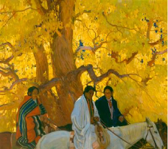 Passing By 1924 | E Martin Hennings | Oil Painting
