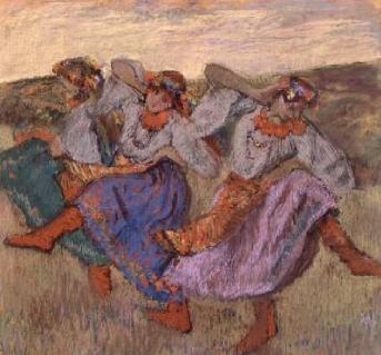 Russian Dancers 1899   Edgar Degas   Oil Painting