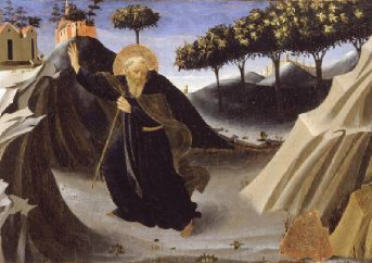 Saint Anthony Shunning the Mass of Gold 1435 40 | Fra Angelico | Oil Painting