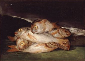 Still Life with Golden Bream 1808 12 | Francisco de Goya | Oil Painting