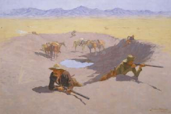 Fight for the Water Hole 1903 | Frederic S Remington | Oil Painting