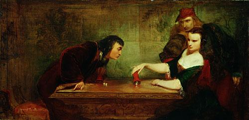 The Last Throw 1840 | Charles Robert Leslie | Oil Painting